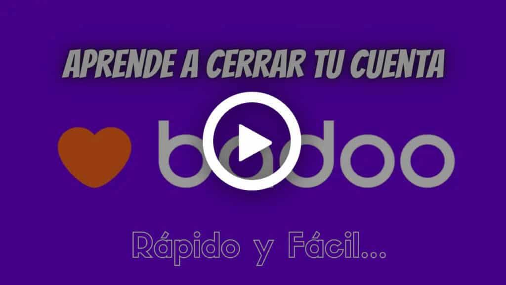 eliminar cuenta de badoo youtube